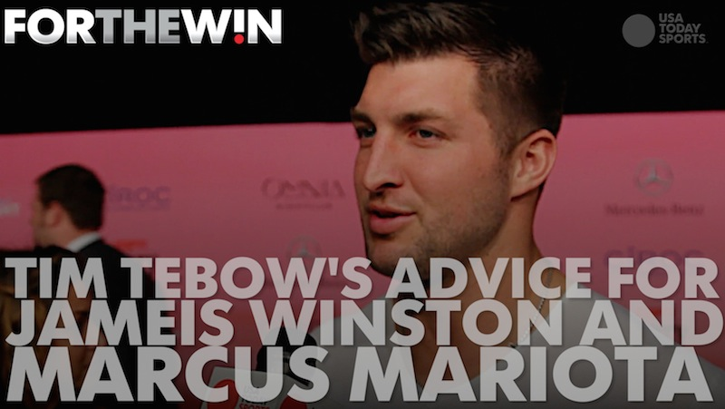 Tim Tebow's advice for Jameis Winston and Marcus Mariota