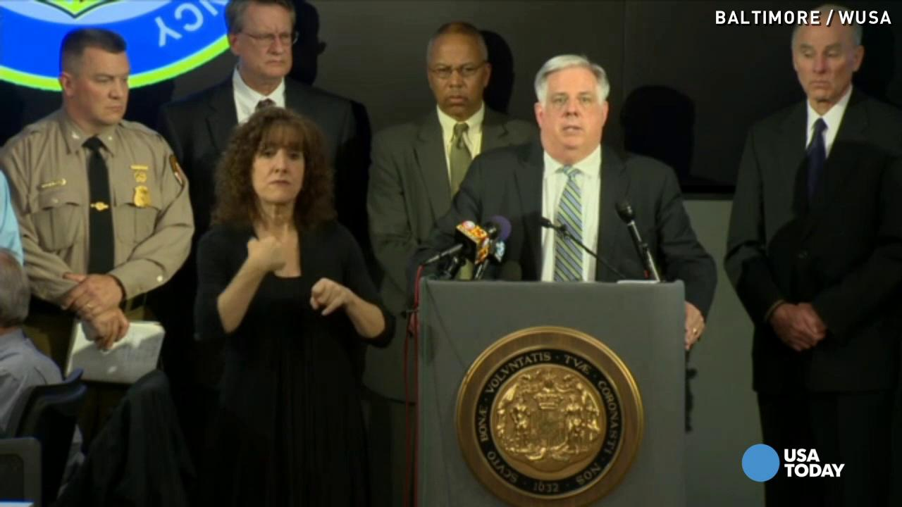 Md. governor 'glad' Baltimore mayor 'finally' requested aid