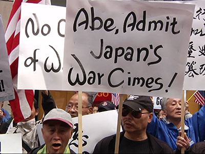Protesters call for apology from Japan's Abe