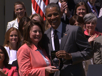 President Obama awards teacher of the year