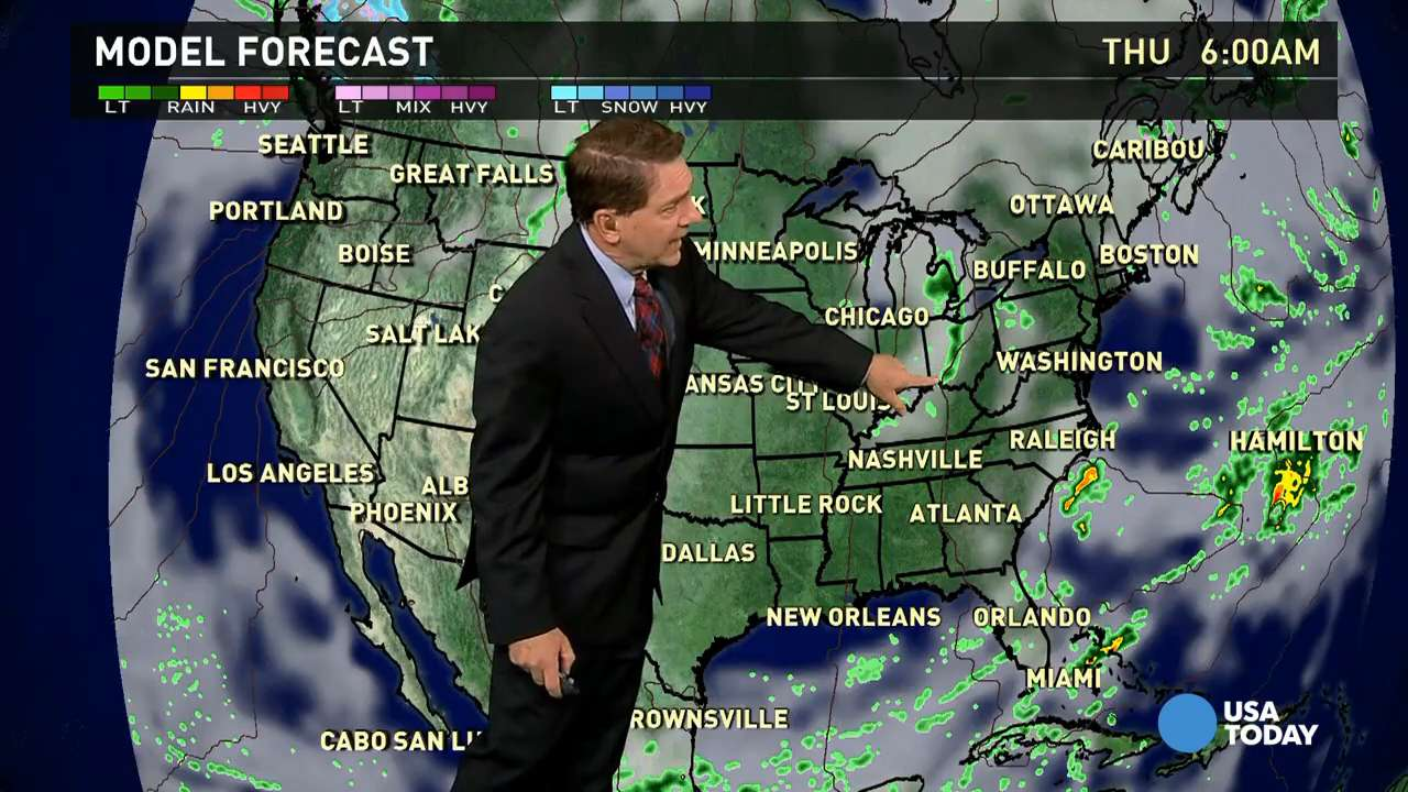 Thursday's forecast: Nor'Easter lingers in the East