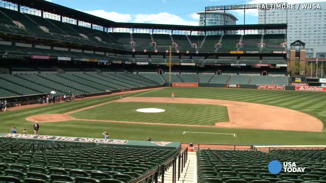 Orioles top White Sox in empty stadium with no fans