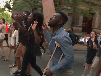 Raw: Protesters march to Baltimore City Hall
