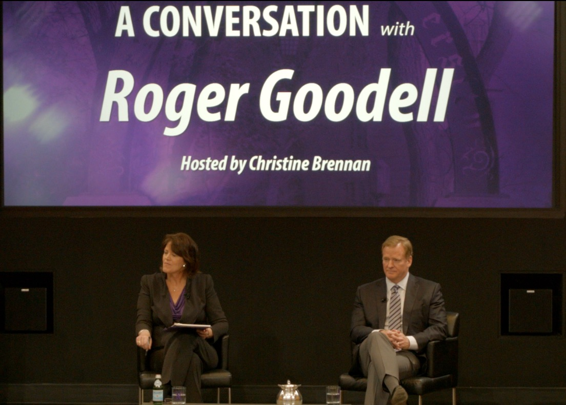 Roger Goodell tackles tough topics at Northwestern town hall