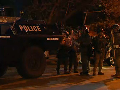 Raw: Streets Clear As Baltimore Curfew Begins
