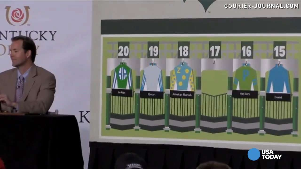 Kentucky Derby favorite, American Pharoah drew post 18 in the annual draw. Hear the big reaction the announcement got at the event.
