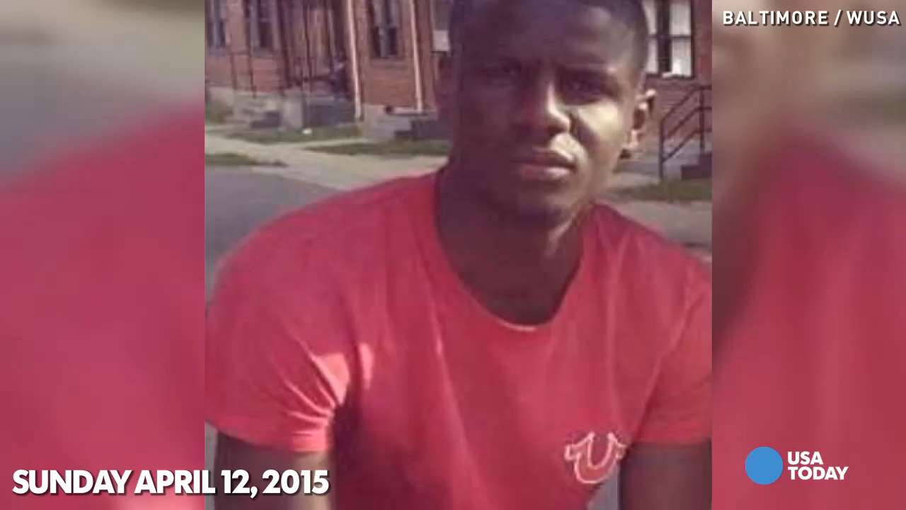 A timeline of events surrounding Freddie Gray's death