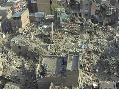Raw: Drone flyover reveals Nepal damage