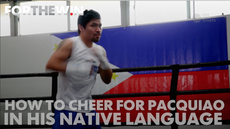 Manny Pacquiao and his fans teach you some tagalog to use during the fight.