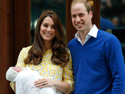 Duchess of Cambridge gives birth to princess