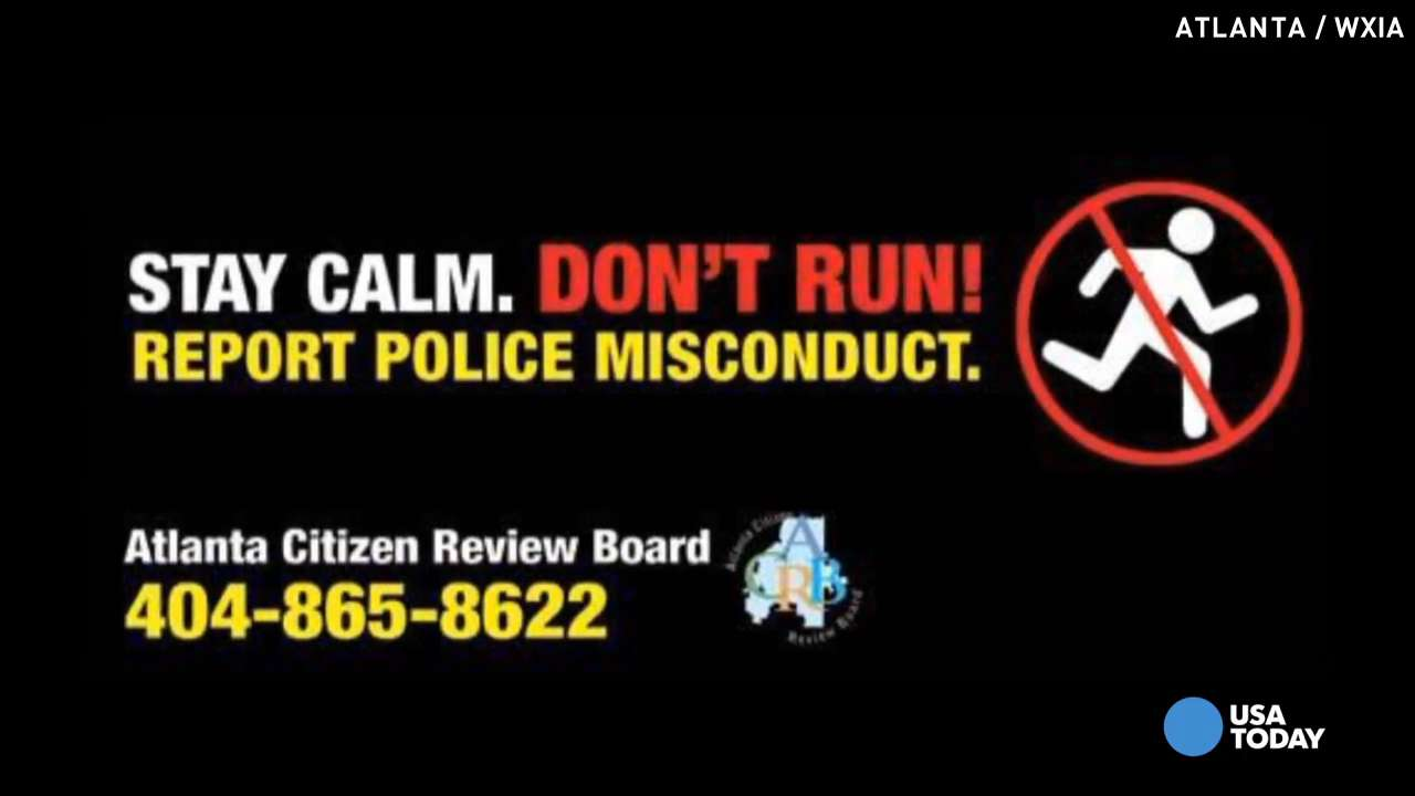 City puts up 'Don't Run' from police billboards