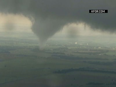 Raw: Tornadoes hit Oklahoma