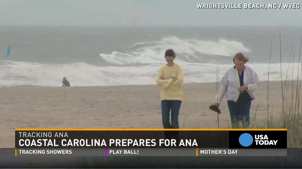 Knitting Up A Storm North Myrtle Beach : Tropical storm ana whips up waves along outer banks