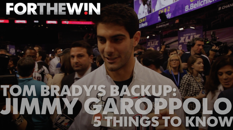 5 things to know about Tom Brady's backup: Jimmy Garoppolo