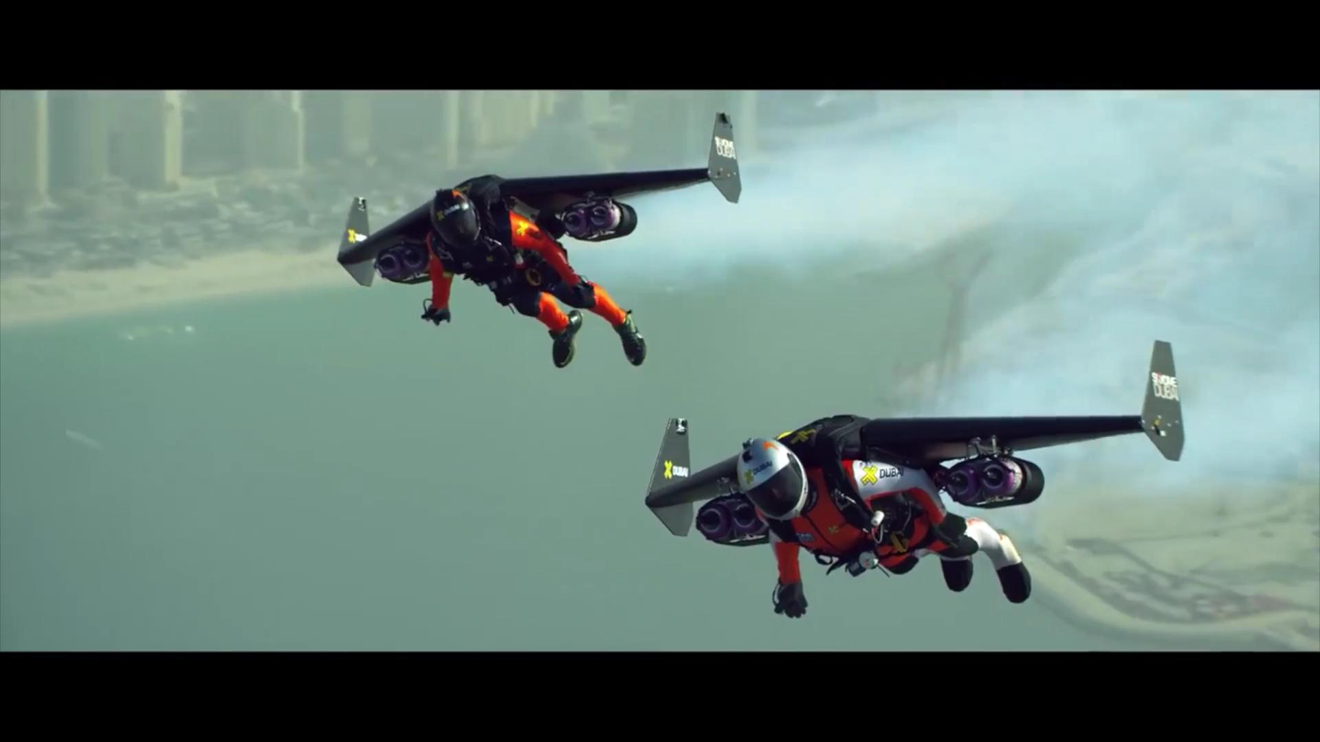 Watch two guys with jetpacks fly over Dubai