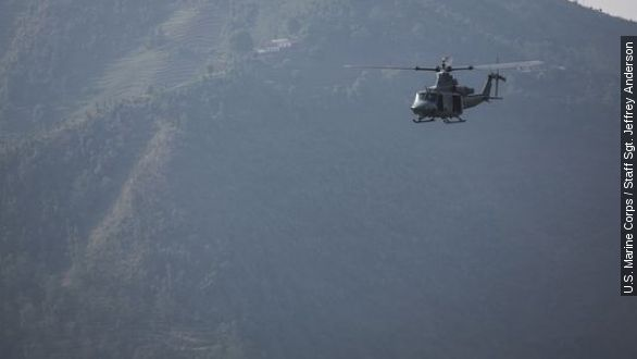 US helicopter goes missing while aiding Nepal