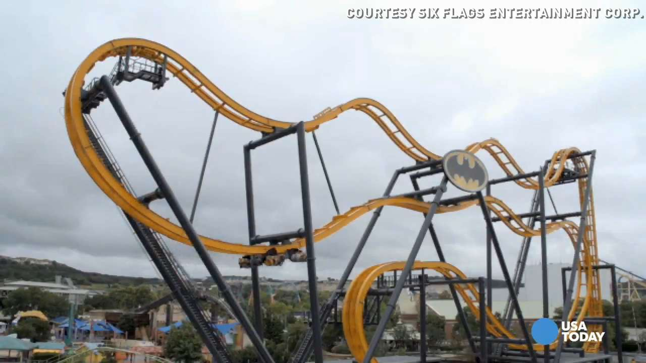 Holy dizzy Batman! See the new spin on winged coaster
