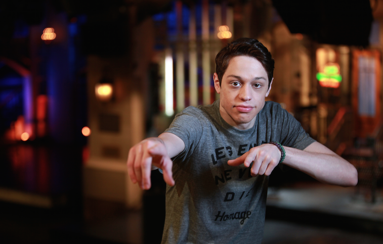 Pete Davidson, left, joins Colin Yost as 'Saturday Night Live's' Weekend Update Resident Young Person.