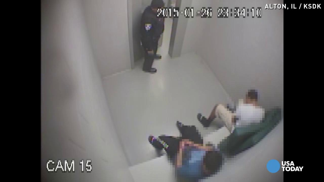 Shocking video shows cop macing teens in cuffs