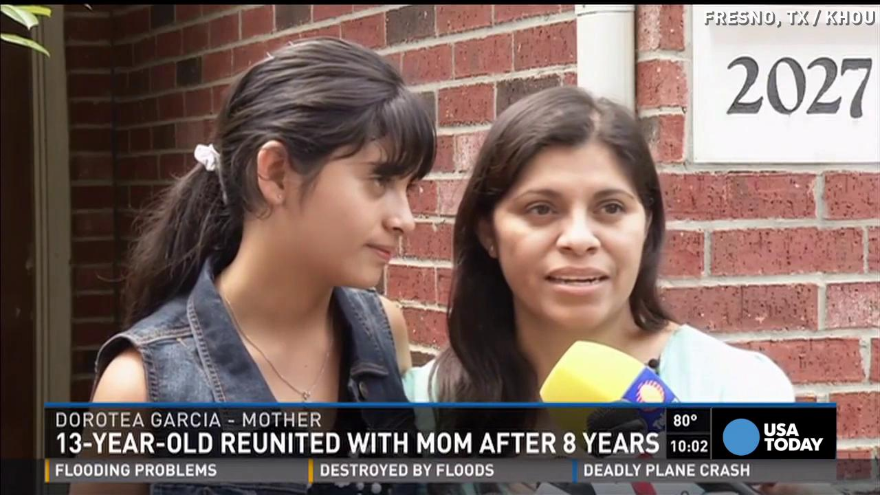 Teen reunited with mom after 8 years in Mexico