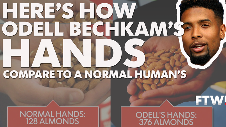 Odell Beckham has great hands, but just how big are they?