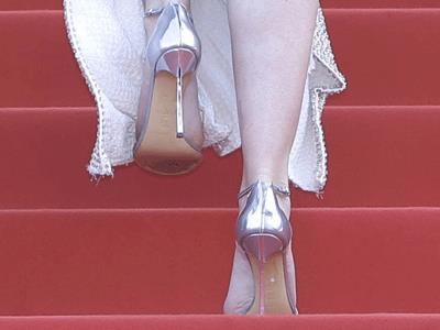 Emily Blunt on high heels at Cannes