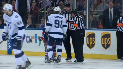 Take a look behind the scenes and inside the action as the Lightning take Game 2 from the Rangers.