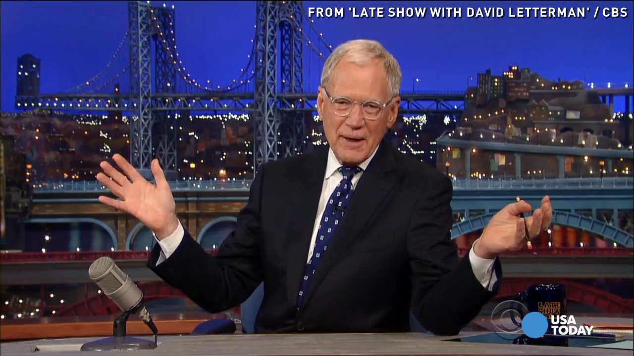 David Letterman farewell emotional but no tears