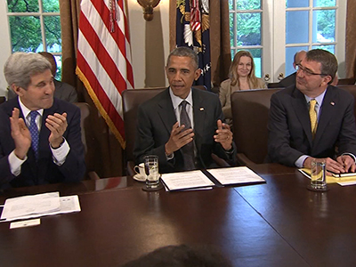 President Addresses Goals at Cabinet Meeting