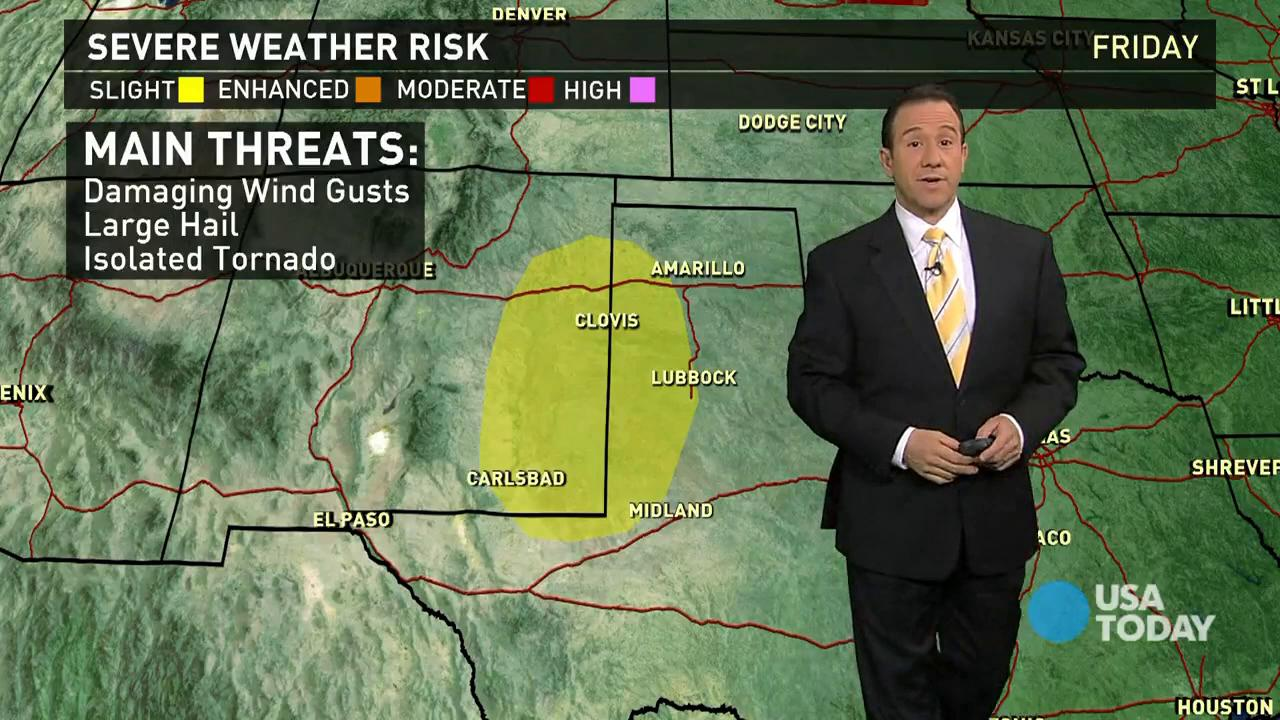 Friday's forecast: Severe storms in Southwest