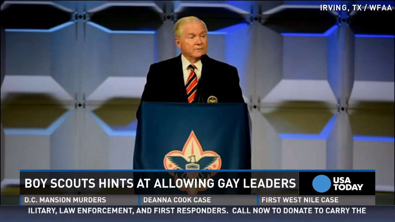 Boy Scouts might end ban on gay leaders