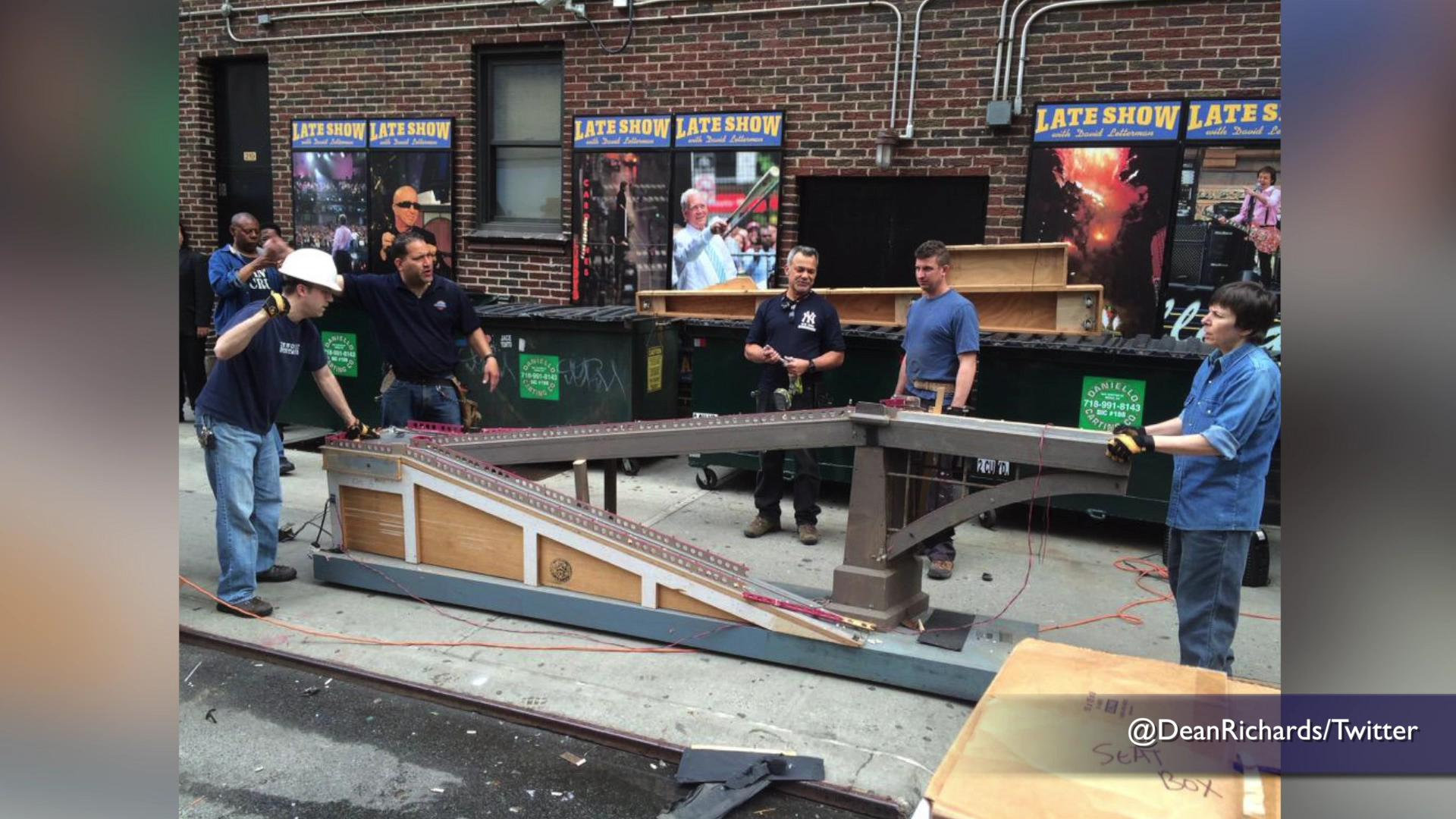 'Letterman' set put in dumpsters the day after final show