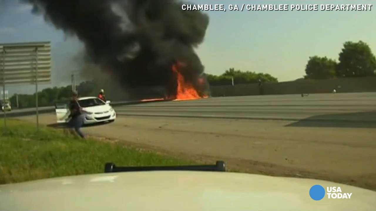 New dashcam video shows plane crashing on highway