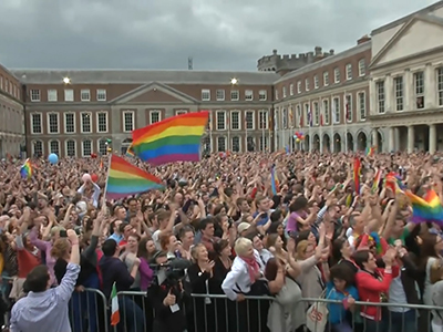 Raw: Gay marriage supporters cheer Irish vote