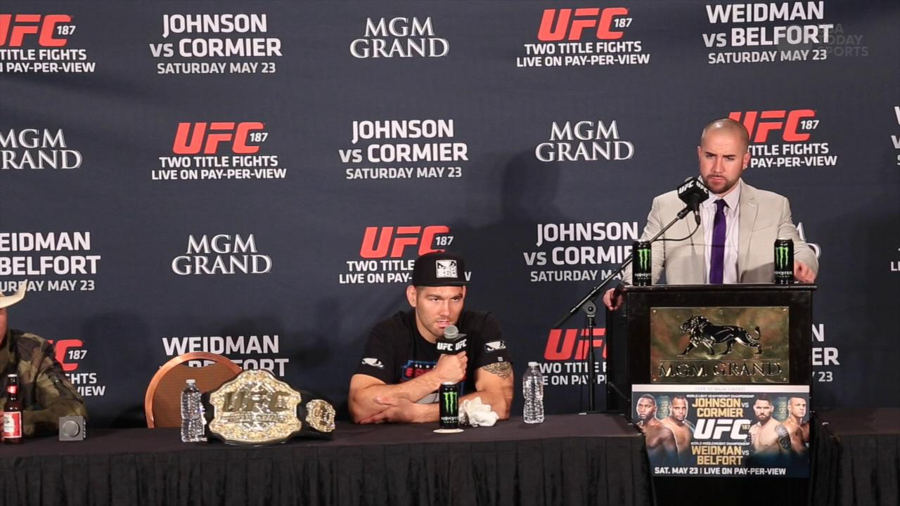 Weidman on Belfort's test results: 'There's something happening'