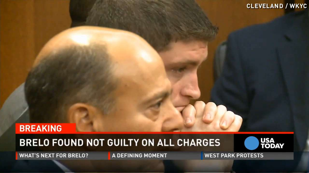 Watch Michael Brelo's reaction as not guilty verdict read