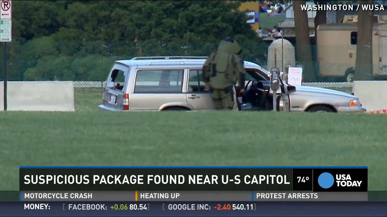'Suspicious' pressure cooker destroyed near Capitol building