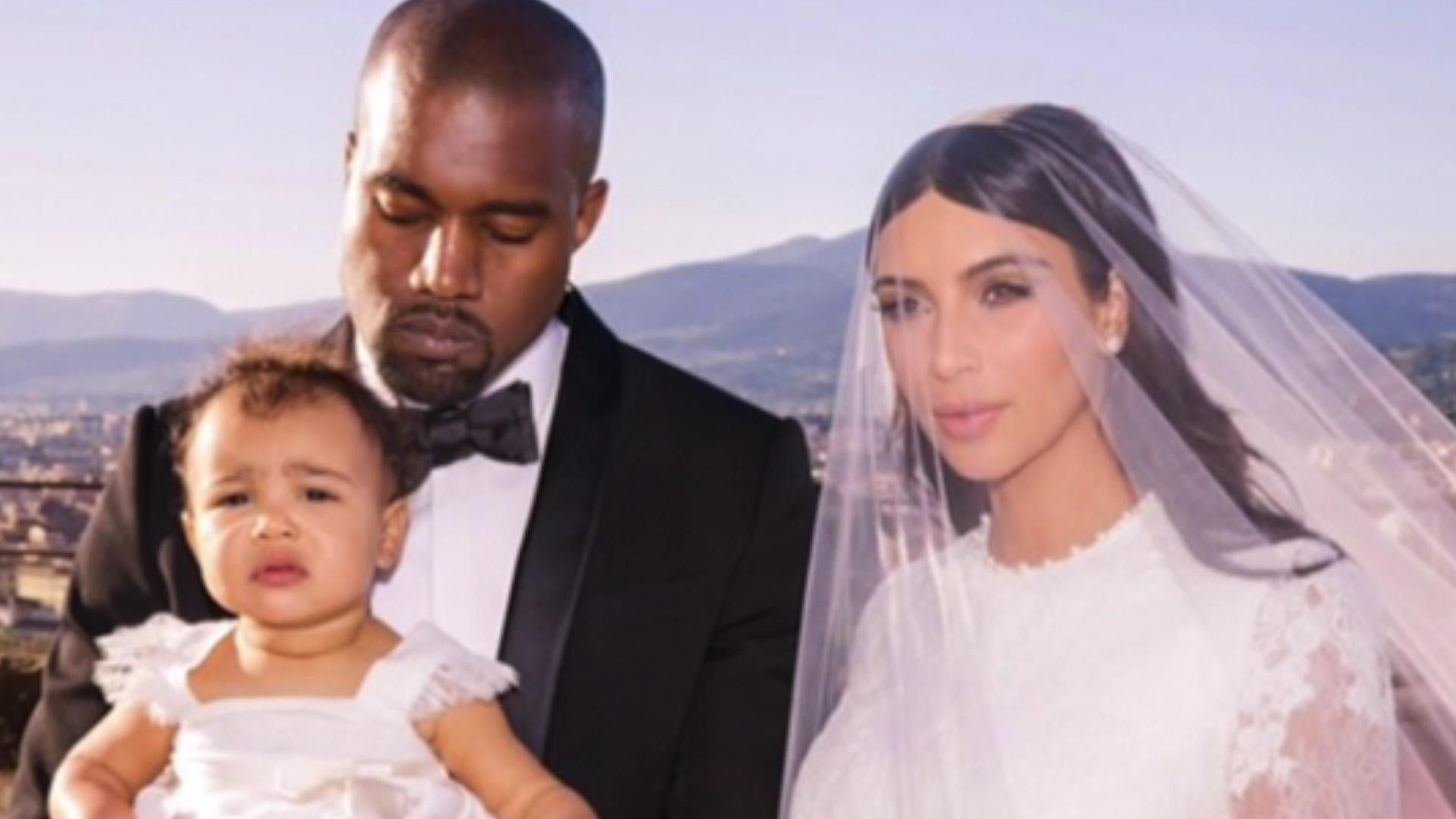 Kimye celebrate first anniversary via social media.