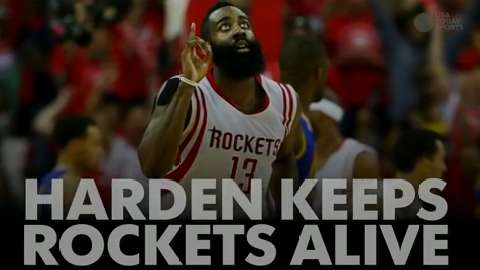 Harden keeps Rockets alive