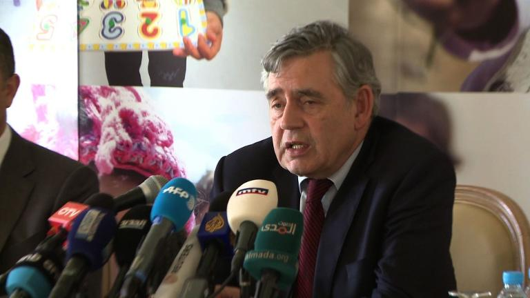 Gordon Brown appeals for Syrian students
