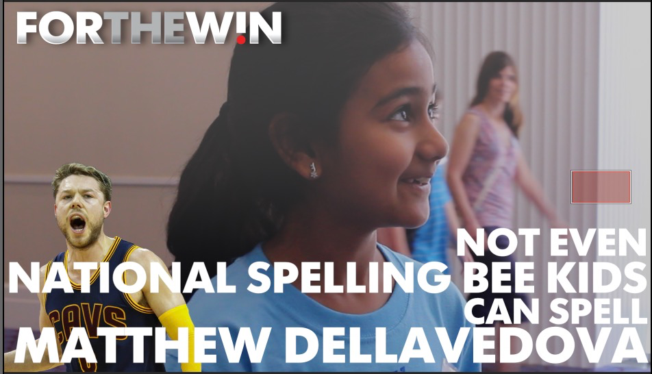 Even National Spelling Bee contestants can't spell Dellavedova