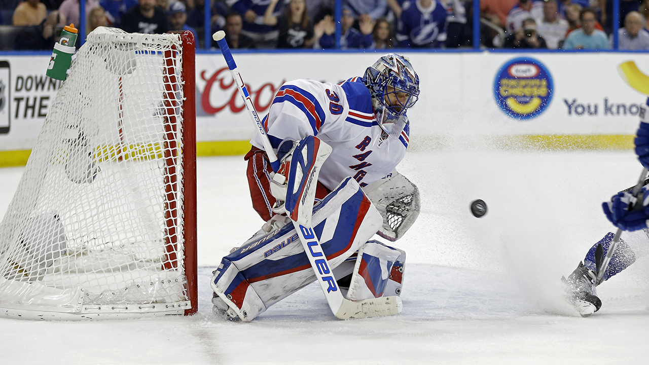 Veteran goalie Henrik Lundqvist led the New York Rangers to a 7-3 win over the Tampa Bay Lightning Tuesday night, forcing a Game 7 in the Eastern Conference finals.