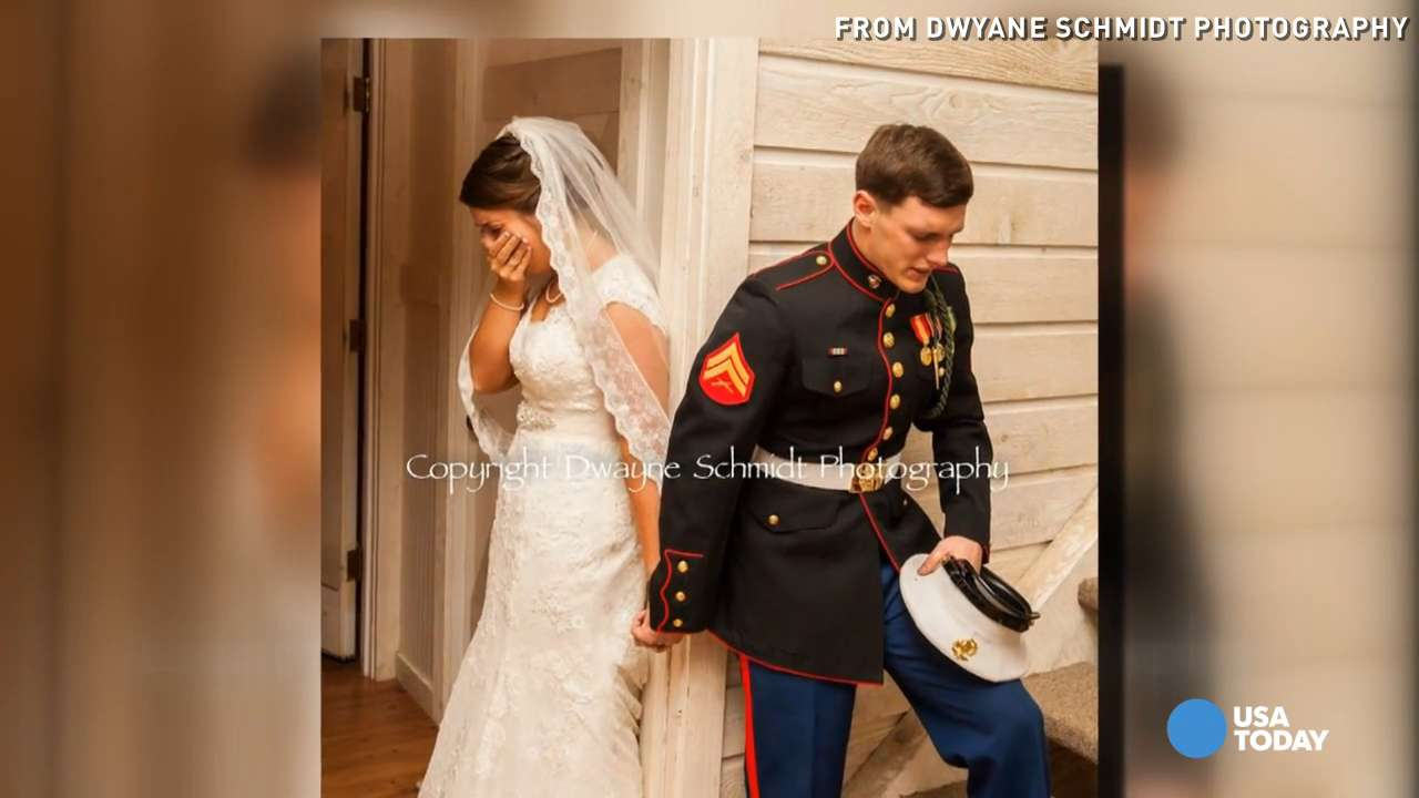Newlyweds in viral praying photo recall emotional moment