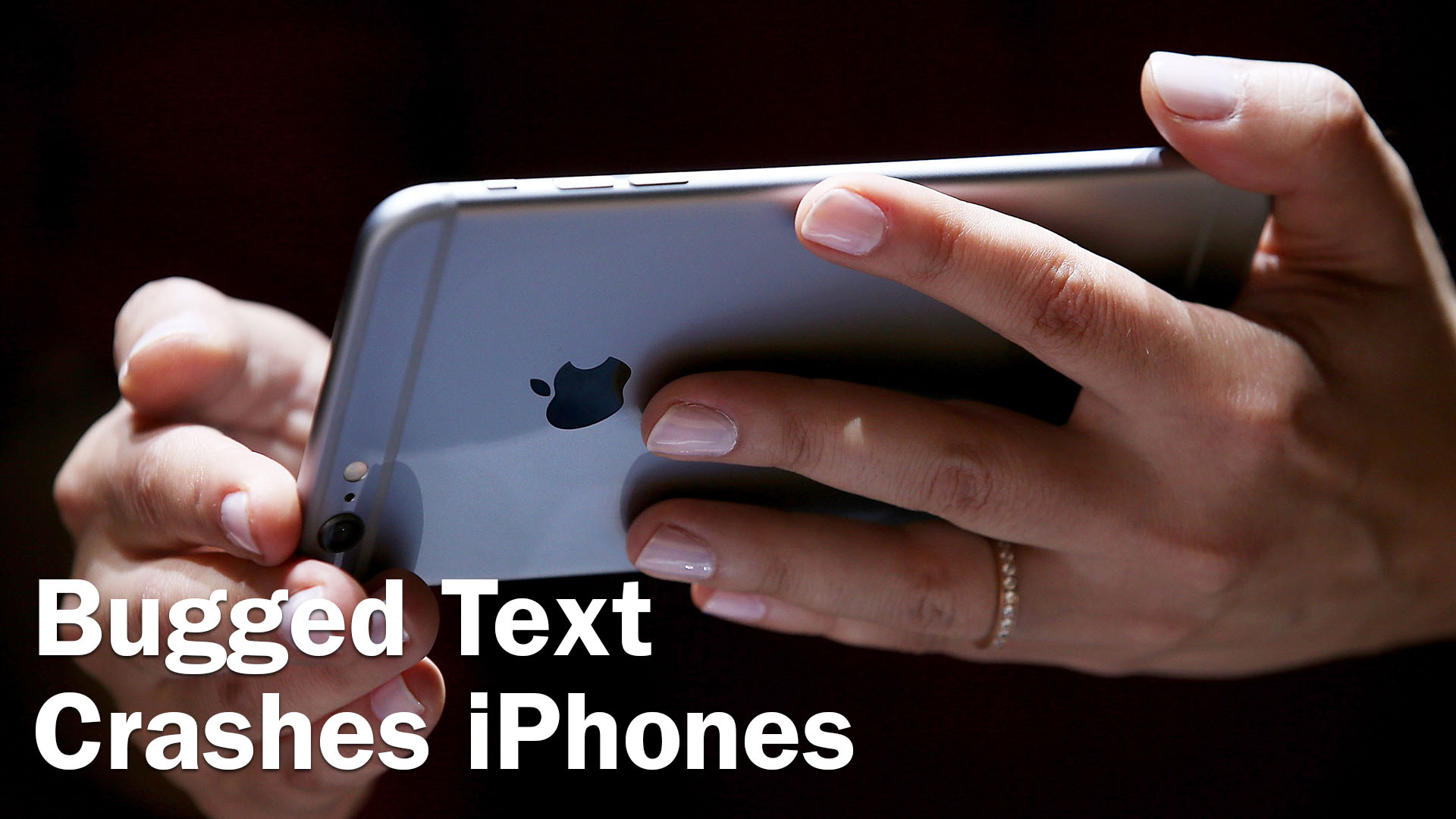 Bugged text messes with iPhones