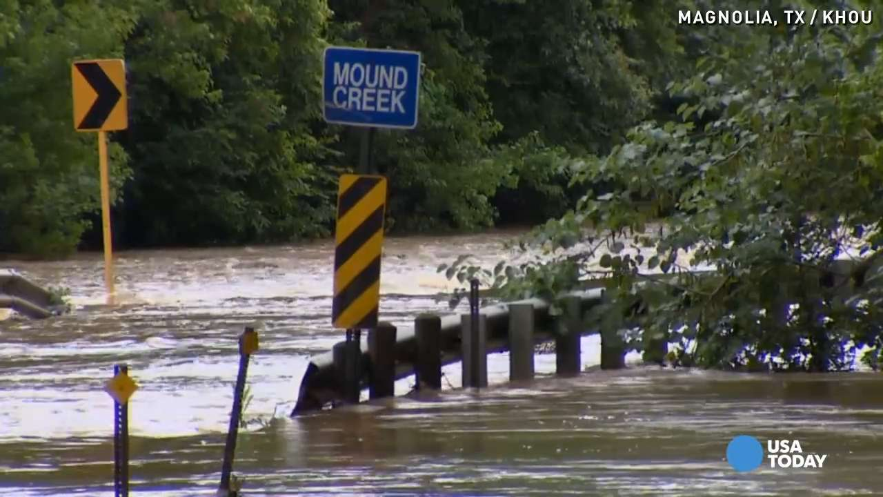 Floodwaters trapping residents in isolated Texas town