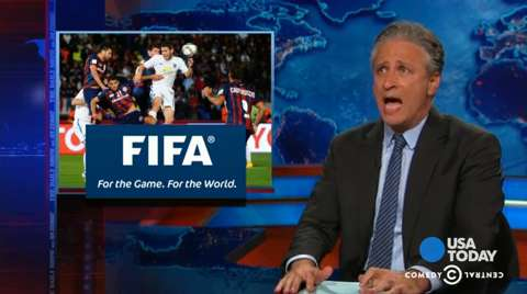 Jon Stewart, late-night hosts roast FIFA over corruption probe
