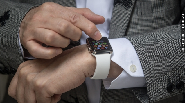 Apple watch intrudes on struggling luxury brands