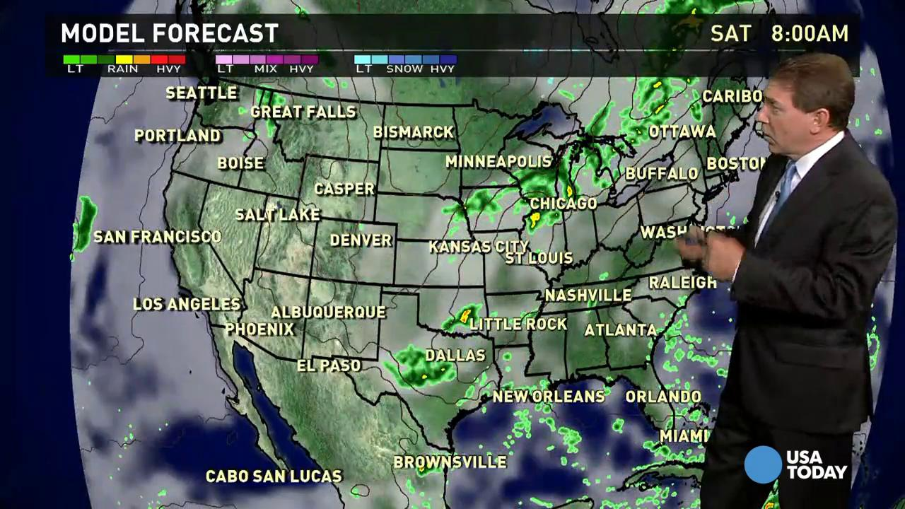 Friday's forecast: Summer pattern means more storms