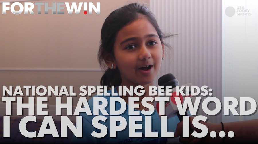 National Spelling Bee kids tell us the hardest word they can spell