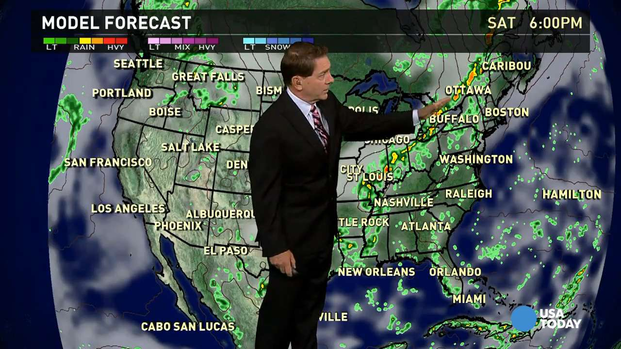 Saturday's forecast: Cold front in Ohio valley